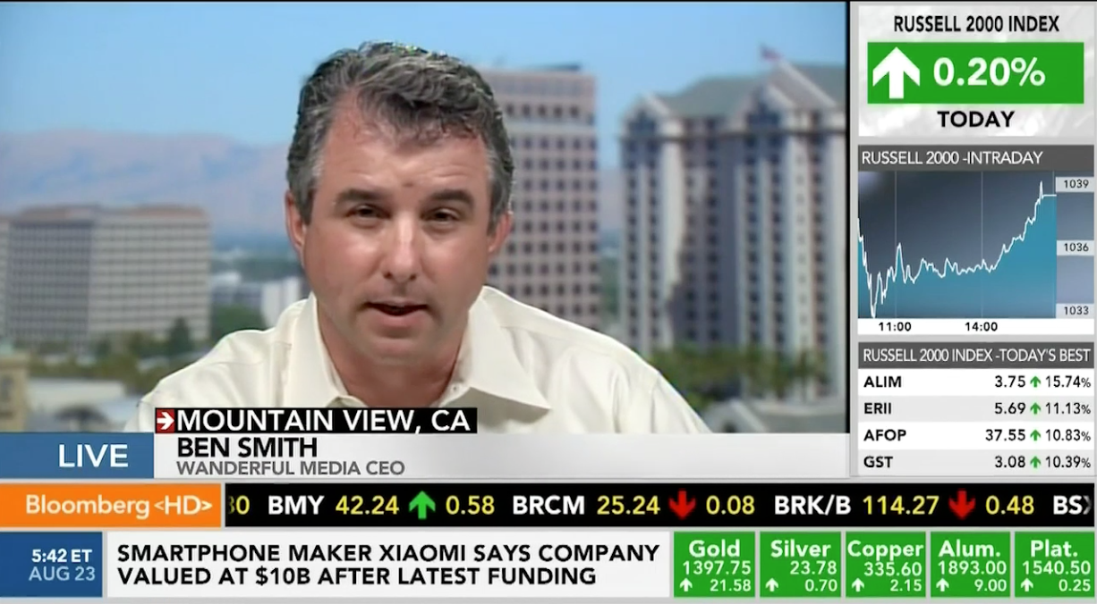 Ben Smith - Bloomberg TV